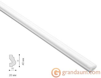 Потолочный плинтус с гладким профилем NMC LX42