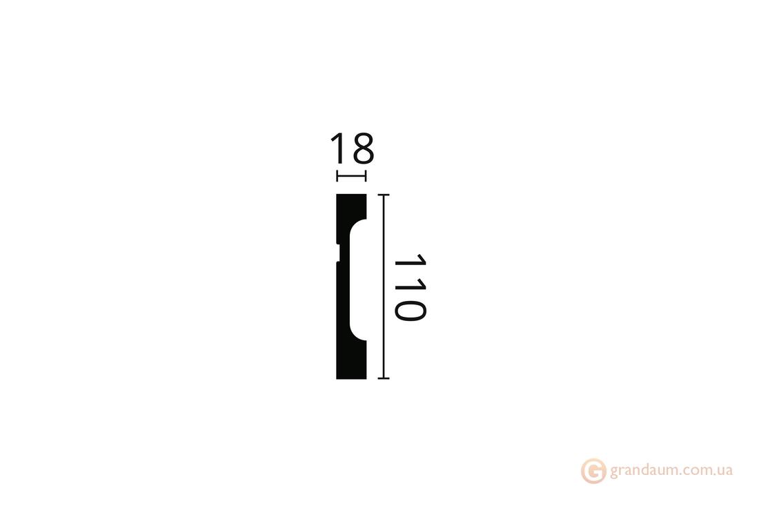 Напольный плинтус с гладким профилем NMC FD11