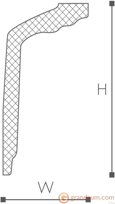Потолочный плинтус с гладким профилем NMC GT
