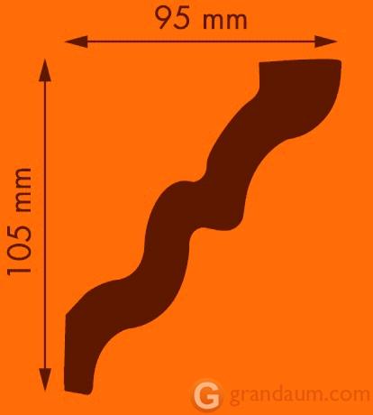 Потолочный плинтус с гладким профилем NMC LX141