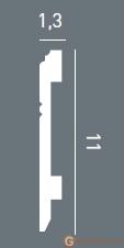 Напольный плинтус гибкий Orac Decor SX105F