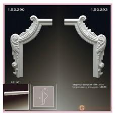 Угловые элементы и вставки Европласт 1.52.290 Уголок У-290 Левый