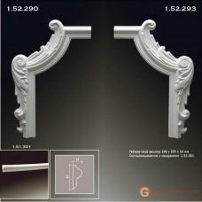 Угловые элементы и вставки Европласт 1.52.293 Уголок У-293 Правый
