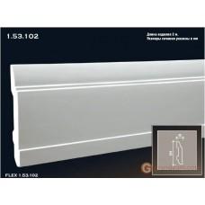 Напольный плинтус гибкий Европласт FLEX 1.53.102 (ПЛ-102)