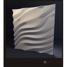 3D панели из гипса Дюны
