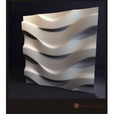3D панели из гипса Волна 2