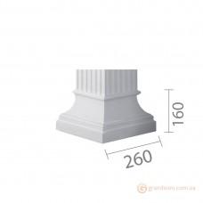 База для гипсовой колонны б-10 (квадрат)