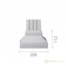 База колонны из гипса б-80 (пилястра)