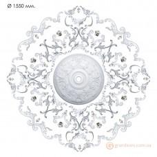 Наборная розетка из гипса Нр-инд. 6 диаметр 1550 мм