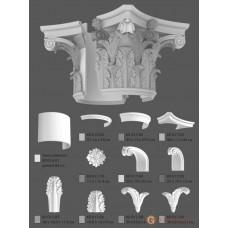 Базы и капители Modus decor КЛ 017.03