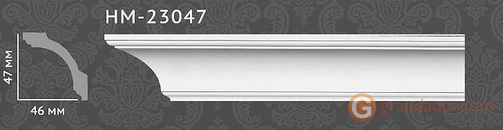 Карниз с гладким профилем Classic home HM23047