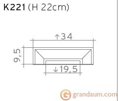 Пилястра Orac Decor K221